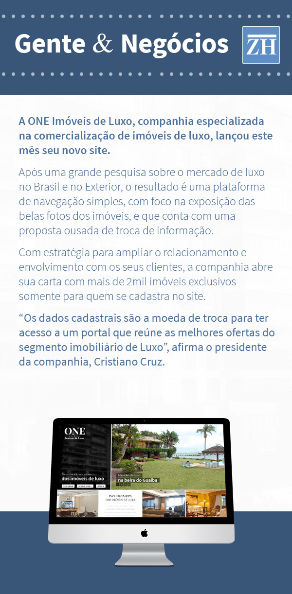 Novo site da ONE Imóveis de Luxo