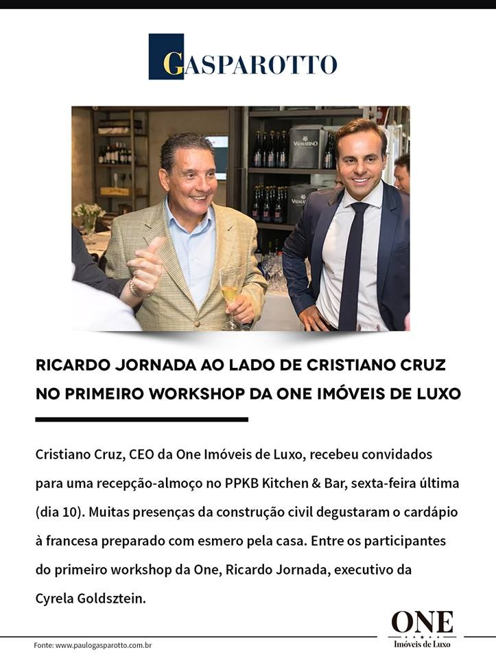 ONE Realiza Workshop de Luxo em Porto Alegre
