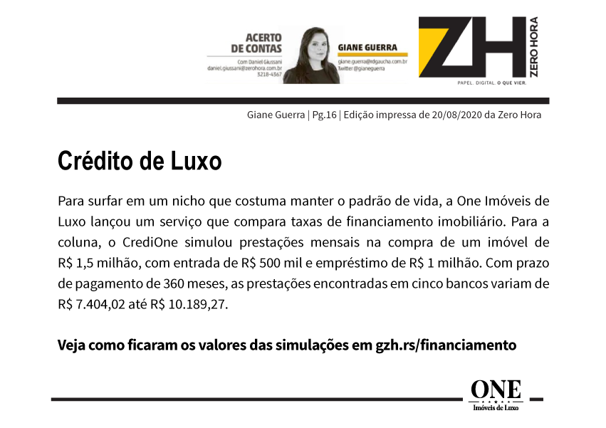 CRÉDITO DE LUXO