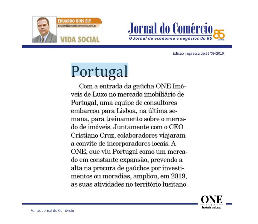 ONE Imóveis de Luxo entra no mercado imobiliário de Portugal.