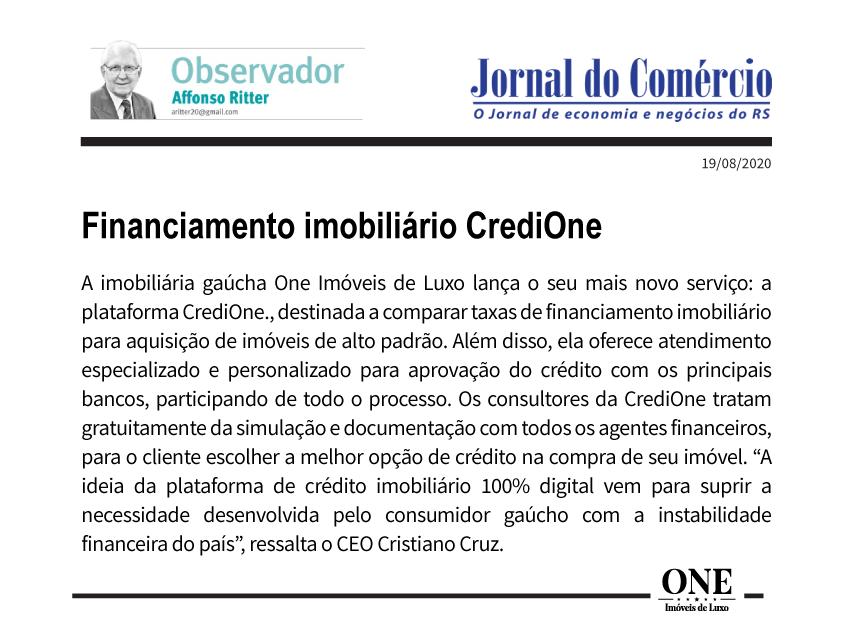 FINANCIAMENTO IMOBILIÁRIO CREDIONE