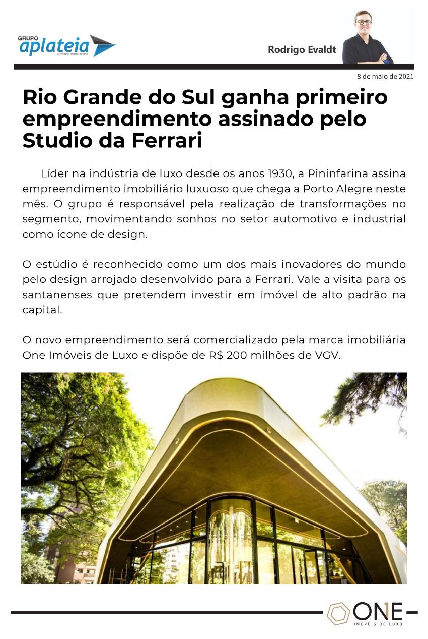 Rio Grande do Sul ganha primeiro empreendimento assinado pelo Studio da Ferrari